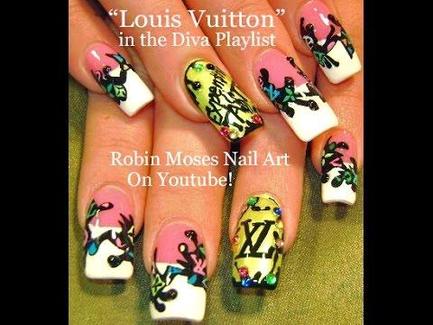 Louis Vuitton Nail Art Tutorial Diy Nails Design Youtube