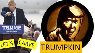 How To Carve a ★ Donald Trump PUMPKIN TRUMPKIN ★ for Halloween Easy