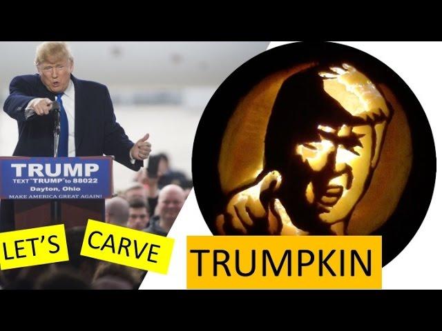 How To Carve A Donald Trump Pumpkin Trumpkin For Halloween Easy Youtube