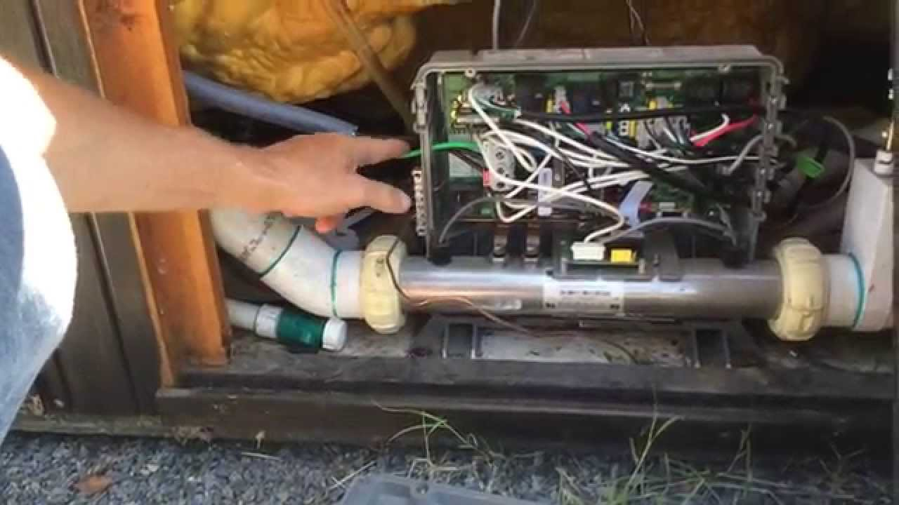 how not to run electrical to a hot tub! beware! youtube Hot Tub Maintenance
