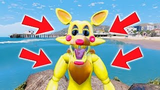 THE AMAZING GOLDEN MANGLE! (GTA 5 Mods For Kids FNAF Funny Moments)