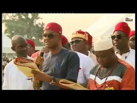 IGBO COMMUNITY IN EDO STATE PAY HOMAGE OF THE OBA OF BENIN K
