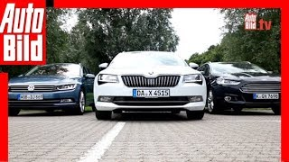 Skoda Superb Combi vs. VW Passat und Ford Mondeo (2015)