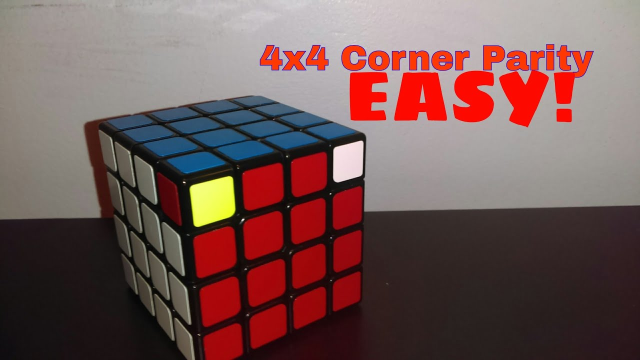 How to easily solve the 4X4 corner parity