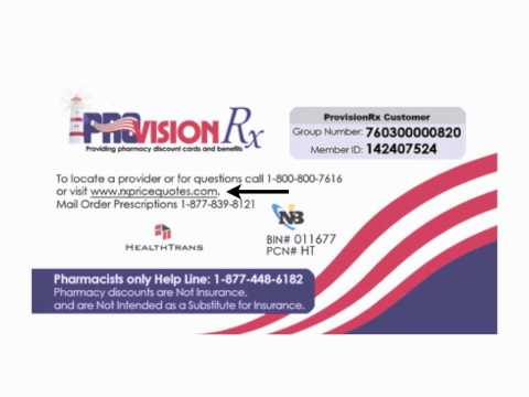How to use the ProvisionRx discount pharmacy card