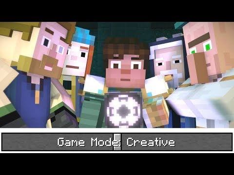Minecraft Story Mode is on CREATIVE MODE !!