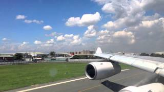 Philippine Airlines a340-300 takeoff from Manila
