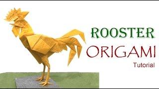 Origami Rooster Tutorial  (Satoshi Kamiya)