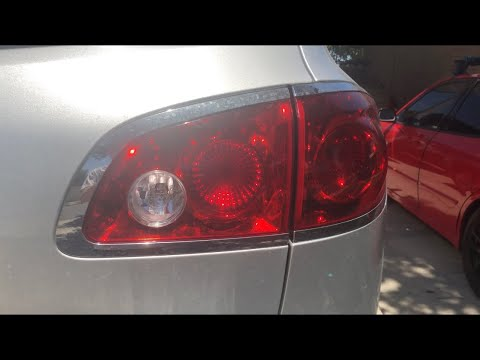 How to Buick Enclave rear light bulb replacement