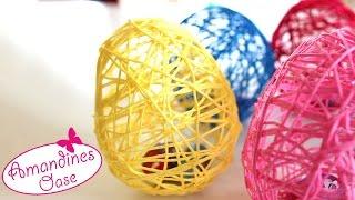 Ostereier aus Wolle / Garn mit Hilfe von Luftballons | DIY Dekoration und Geschenkidee