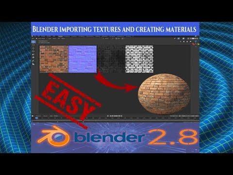 Importing Textures And Creating Materials Fast And Simple Technique Blender 2 8 Tutorial New 2019