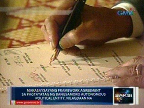 Saksi: Makasaysayang framework agreement sa pagtatatag ng Bangsamoro , nilagdaan na