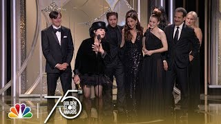 Amy Sherman-Palladino accepts the award for Best Television Series - Musical or Comedy at the 75th Annual Golden Globe Awards. » Subscribe for More: ...