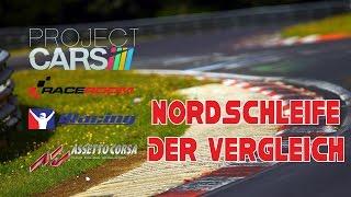 Nordschleifen-Vergleich - pCARS, RaceRoom, iRacing, Assetto Corsa