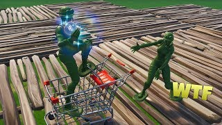 Reaching *MAX* Speed with the Shopping Cart Glitch! - Fortnite Funny Fails & WTF Moments!