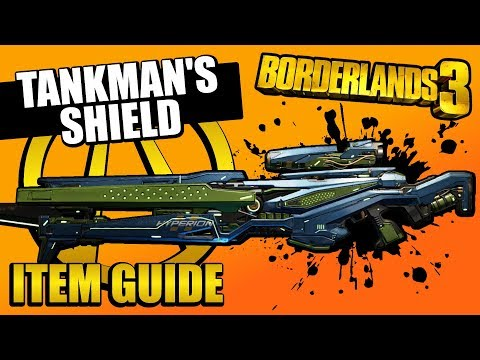 Borderlands 3 | Tankman's Shield (Legendary Item Guide) [MAYHEM 4 EXCLUSIVE] from YouTube · Duration:  4 minutes 14 seconds