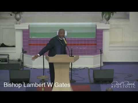 Bishop Lambert Gates At Christ Church Apostolic In Indianapolis, Indiana October 7, 2018