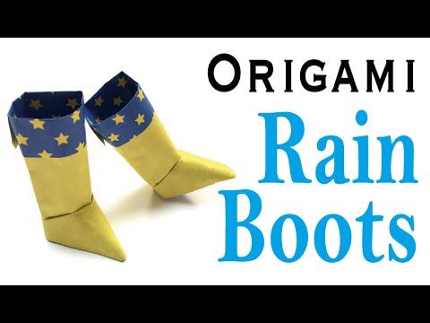 Easy☺︎ Rain Boots Origami Paper Instructions- Origami Kawaii〔#031〕