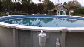 Saltwater 8000 Series - 21 Ft x 54 Inch tall  Above Ground Pool Install With KVUSMC