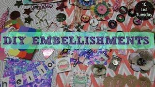 DIY Embellishments & Ephemera // 10 List Tuesday | I'm A Cool Mom