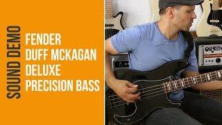 Fender Duff McKagan Deluxe Precision Bass - Sound Demo (no talking)