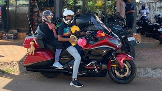 Kannur to Kasargod Family Ride on Honda Goldwing