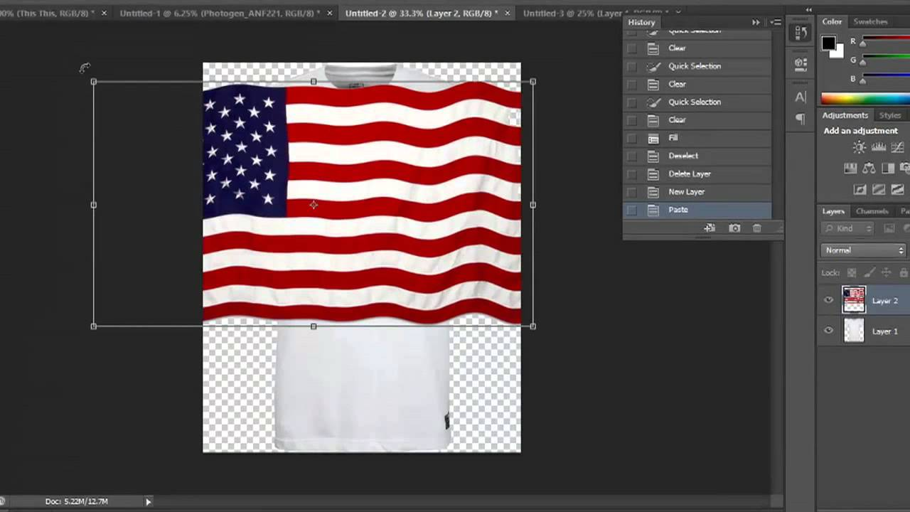 How to Put a Flag on a Logo in Photoshop : Photo & Video Editing