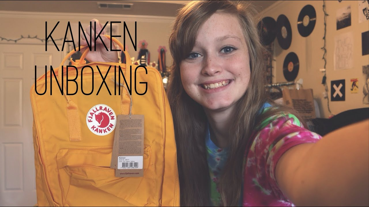 Fjallraven Kanken Unboxing Warm Yellow Youtube