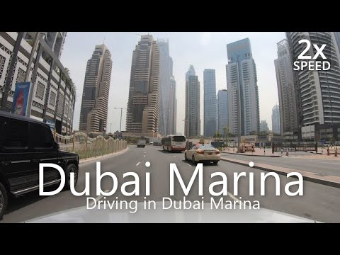 4K Driving in Dubai Marina [UAE Drive#3-11]
