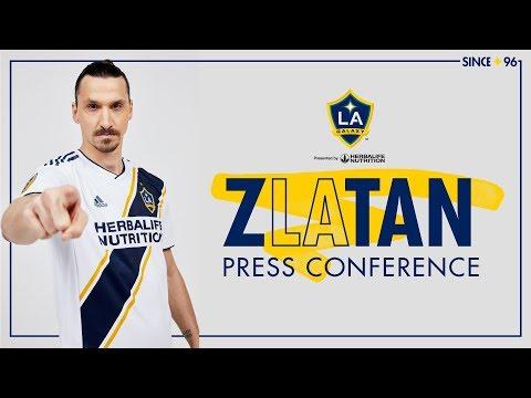 d01087e4f Zlatan Ibrahimović LA Galaxy Introductory Press Conference ...