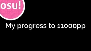 [osu!taiko]My progress to 11000pp
