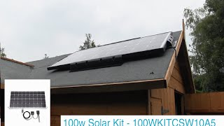 Solar Panel Ideas- Garden Shed