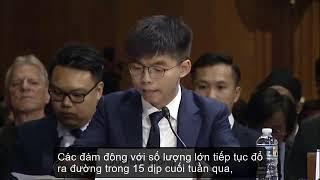 Hoàng Chi Phong Joshua Wong tại phiên điều trần trước Quốc hội Mỹ ngày 17 9