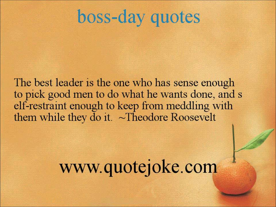 Bosses Day Quotes Boss Day quotes @ http://quotejoke.  YouTube Bosses Day Quotes