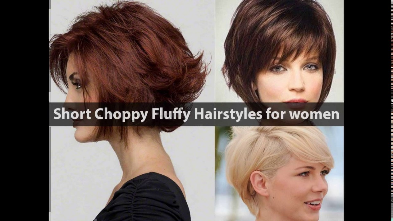 Short choppy layered haircuts for round faces - YouTube