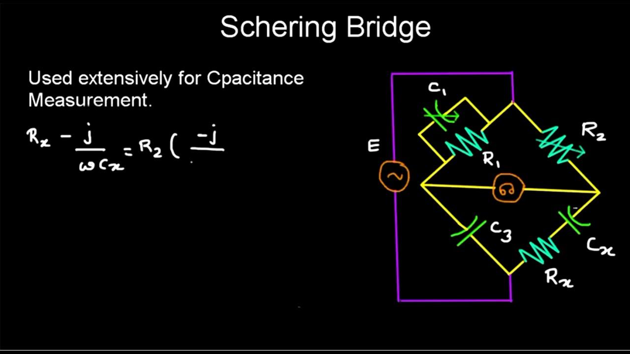 Schering bridge measurement and instrumentation youtube schering bridge measurement and instrumentation pooptronica Images
