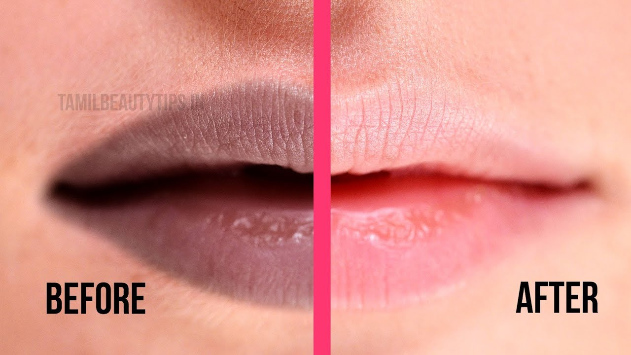 How to Get Pink Lips  Black Chapped / Dark Lips Home Remedy from Beauty  Tips in Tamil