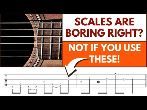 How To Make Playing Scales Fun - Open String Guitar Scales -