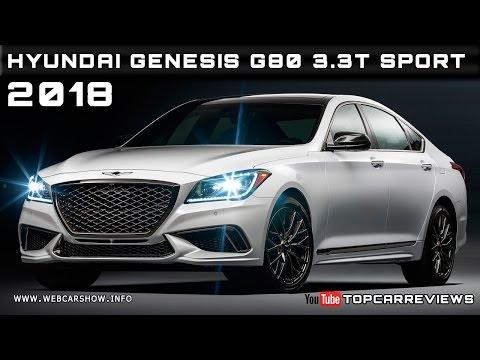 2018 Hyundai Genesis G80 3.3T Sport Review Rendered Price Specs Release Date