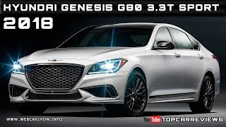 2018 Hyundai Genesis G80 3.3T Sport Review Rendered Price Specs Release Date