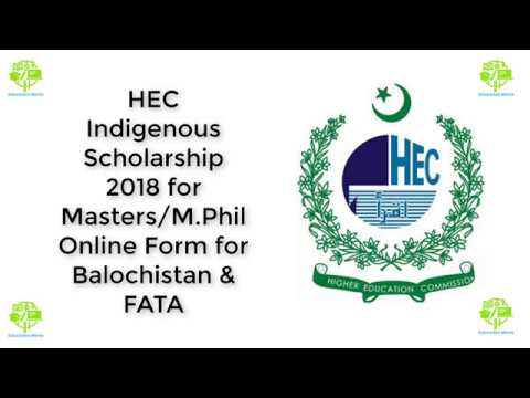 Hec indigenous scholarship 2018 for mastersmil online form for hec indigenous scholarship 2018 for mastersmil online form for balochistan fata malvernweather Image collections