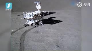 أول فيديو يظهر تجول المسبار الصيني على القمر