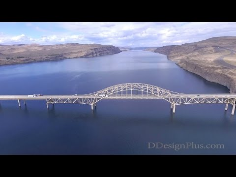 Vantage Bridge - Columbia River,  Washington State