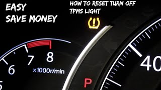Easy: How to Reset/Turn Off TPMS Light On A Honda Accord Sport 2016