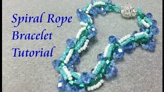 Spiral Rope Bracelet Beading Tutorial - Gift from the Sea