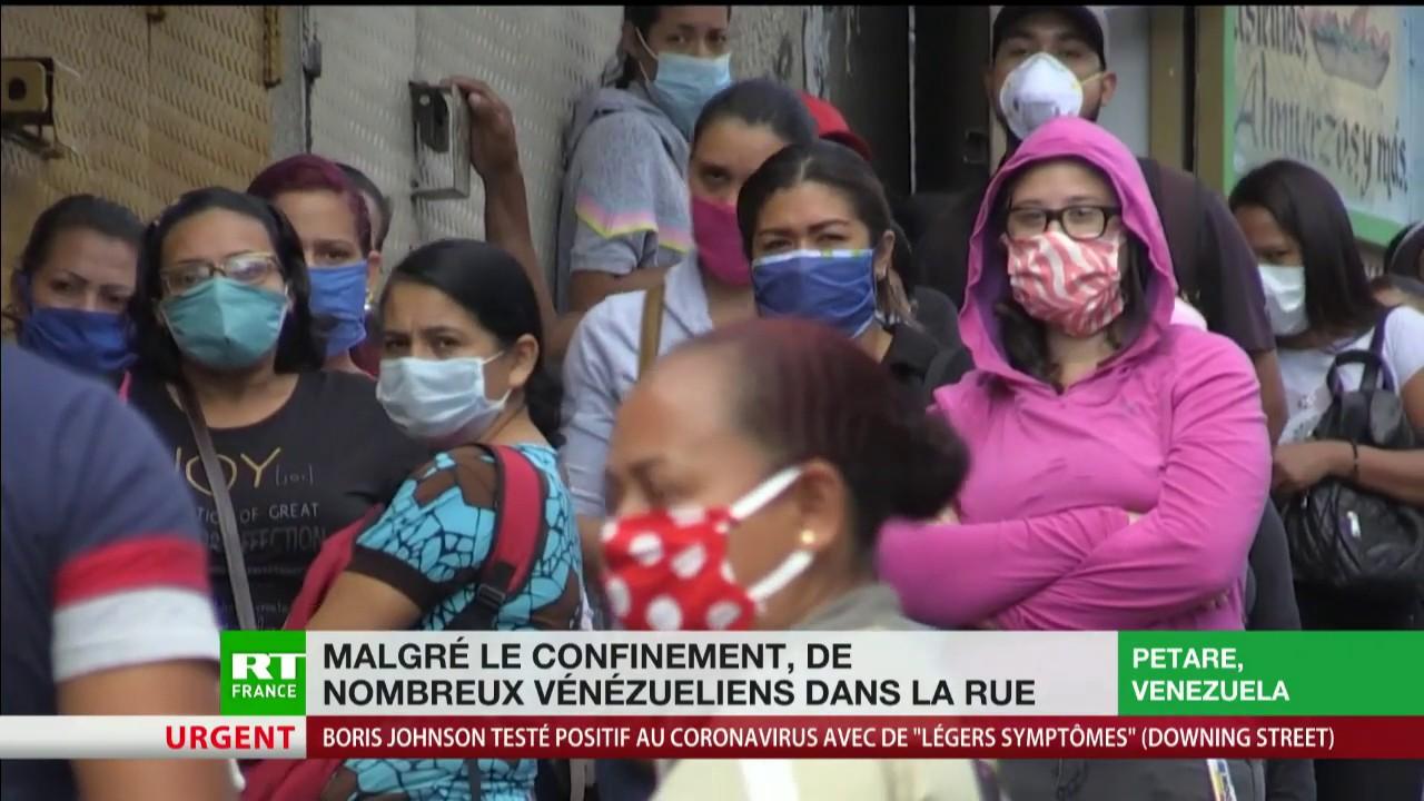 Malgré le confinement, de nombreux Vénézuéliens dans la rue