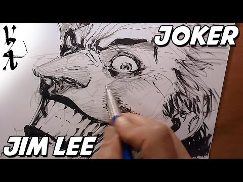 Jim Lee drawing Joker during Twitch Stream