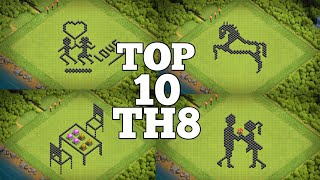 Top10 || Th8 Funny Base With Link || Fun Base || Troll Base || Meme base || 2020 || Clash Of Clans