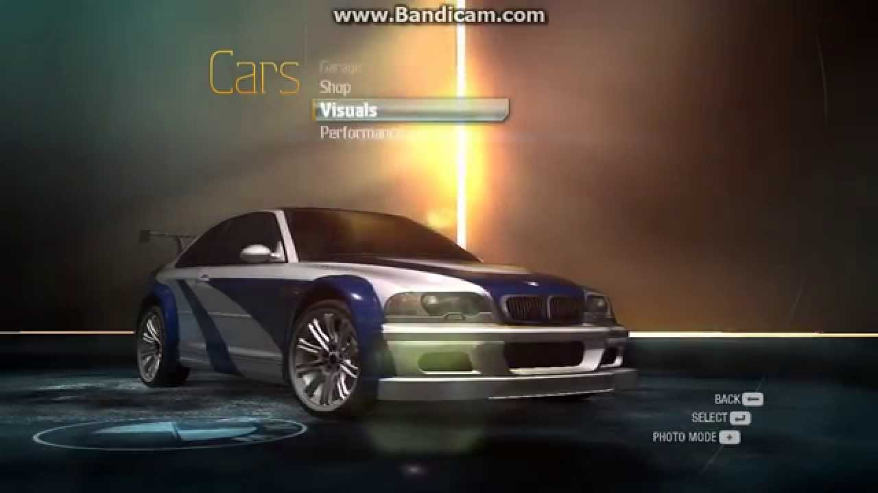 How To Make Bmw M3 Gtr Most Wanted On Need For Speed Undercover