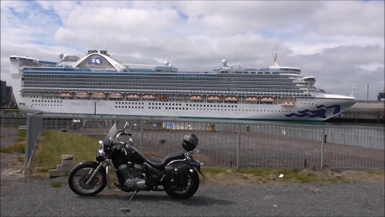 Carribean Princess Cruise Ship, Stormont Wharf Belfast 2017 - YouTube